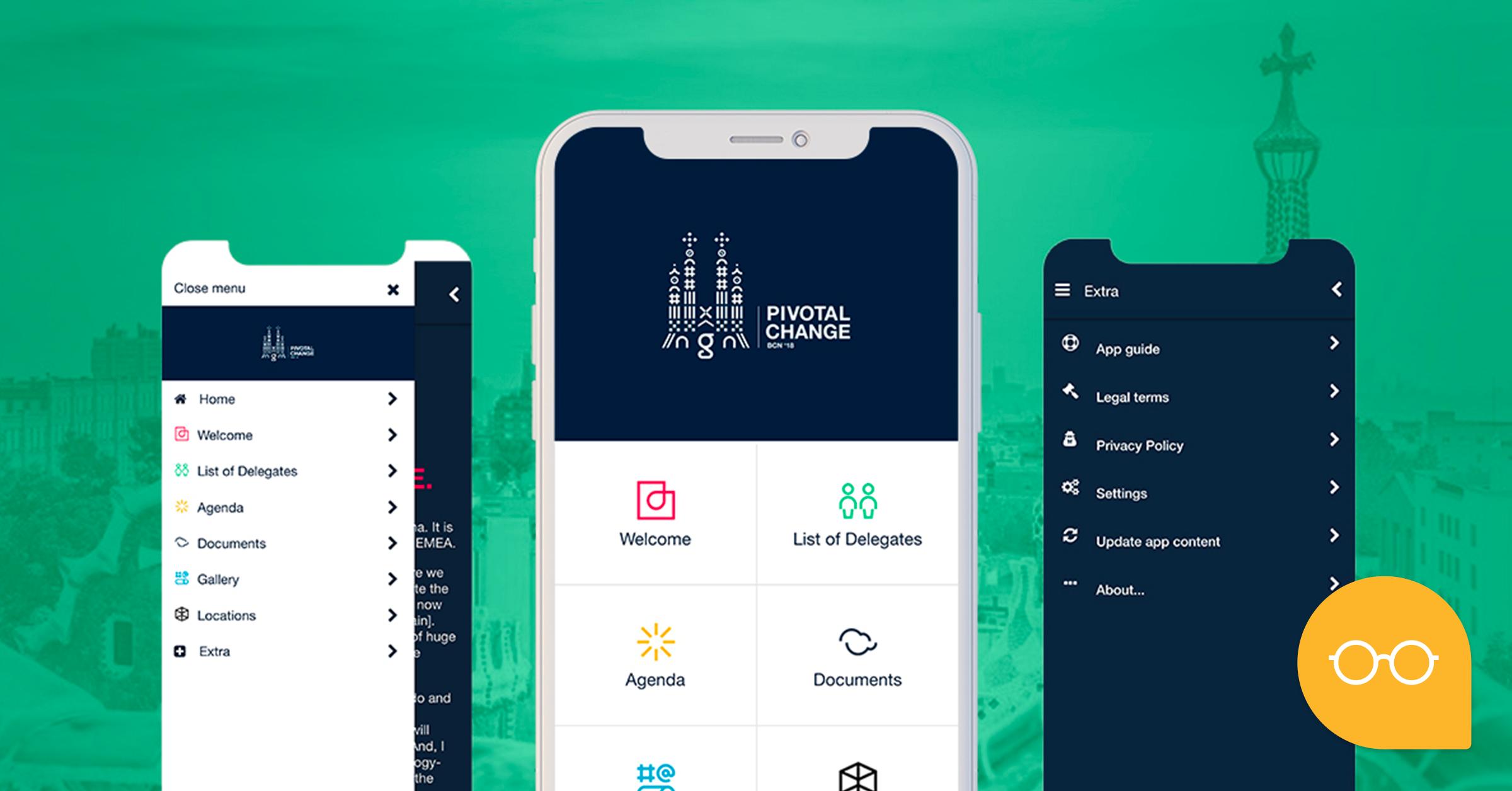 PIVOTAL CHANGE BCN'18: Kundenspezifische Apps für Veranstaltungen