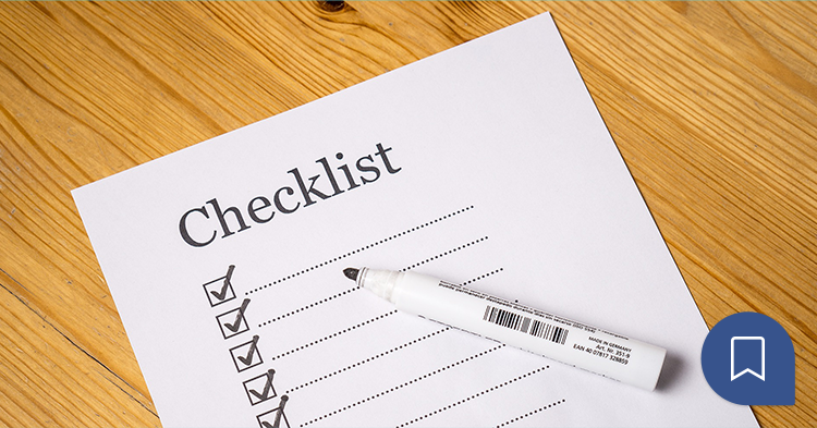 Check-list to organizing a top event
