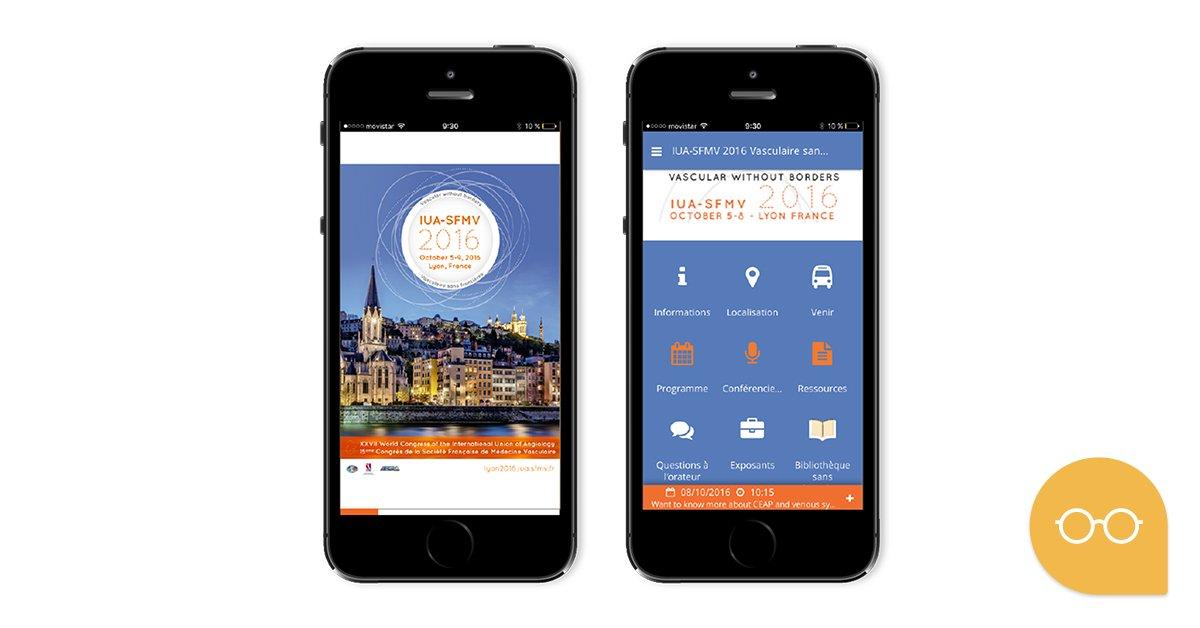Connaisse l'appli mobile pour événements réalisé pour le Congrès SFMV2016.