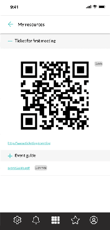 Share information in the users profile