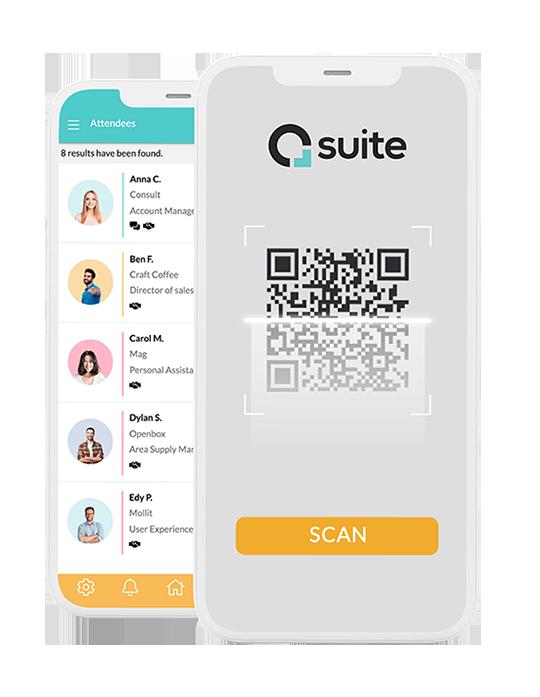 Baixe gratuitamente o app da Eventool nas principais lojas virtuais Google Play e App Store para escanear as credenciais.