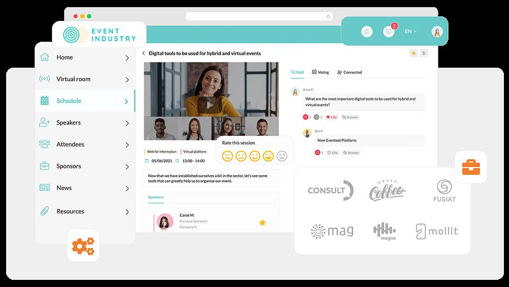 Grâce à la plateforme pour événements virtuels d'Eventool, créez un panorama unique pour engager vos participants.