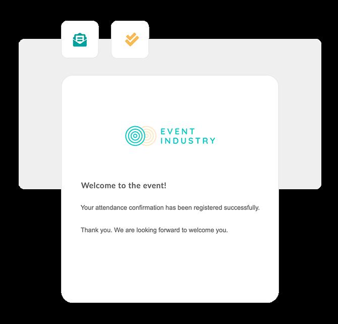 Envoyez un email de notification au participant avec la confirmation de sa réponse.