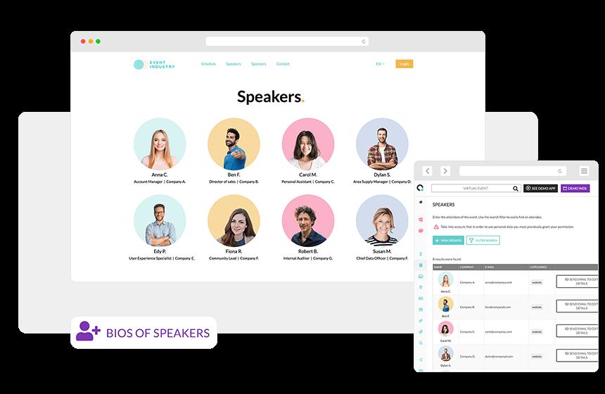 Bios of speakers