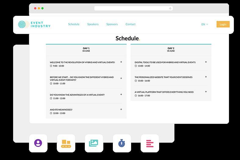 Inclui diversos elementos para estruturar o site e tornar a navegação atrativa: menu principal, registro/login, slider, contagem regressiva, blocos de estilo livre, imagens, separadores, etc.