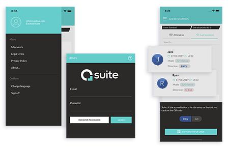 Identifica tu evento y los punto de accesos, acredita los asistentes capturando el código QR. Descárgate la app de check in de Google Play y Apple Store