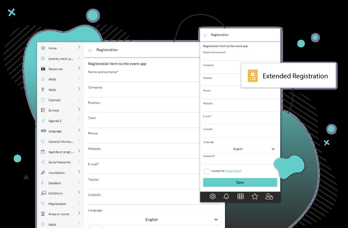 Comprende moduli di registrazione sull'app per iscriversi all'evento. Configura i campi. Integrali sull'app o su una landing page. Con procedura di pagamento, statistiche, esportazione dati.