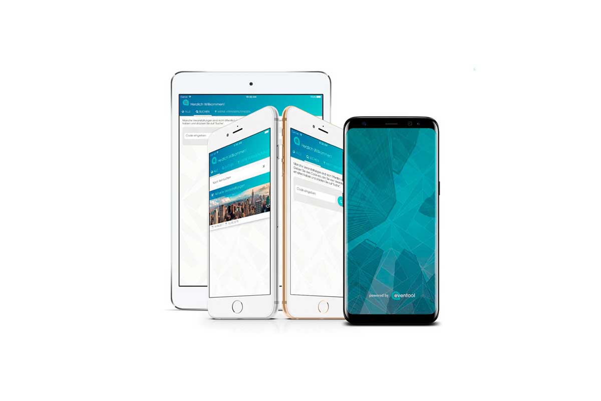 Publica tu evento en la app container de Eventool. La app es totalmente nativa y los asistentes del evento tan sólo tienen que descargarla de las tiendas virtuales (Google Play y Apple Store)